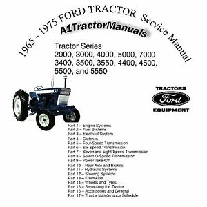 1965 1972 1973 1974 1975 FORD TRACTOR Owners Manual