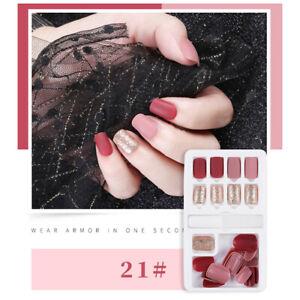 24pcs-French-False-Nails-Art-Acrylic-Full-Cover-Tips-Manicure-Glue-NF-WF