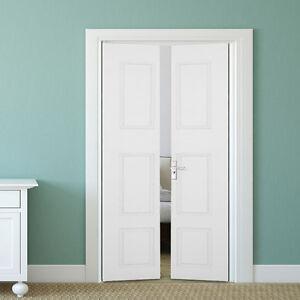 Image is loading Internal-Bifold-Doors-6-Panel-Folding-White-COLONIST- & Internal Bifold Doors 6 Panel Folding White COLONIST Moulded Bi-Fold ...