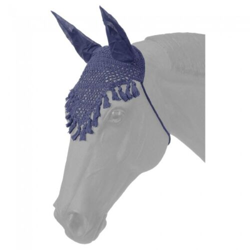 -Navy -Horse Size -NWT 2 Tough-1 Fly Veil/'s w// Fringe