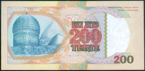 RARE SCARCE banknote 200 Tenge 1993*1st issue *Pick #14a*UNC KAZAKHSTAN