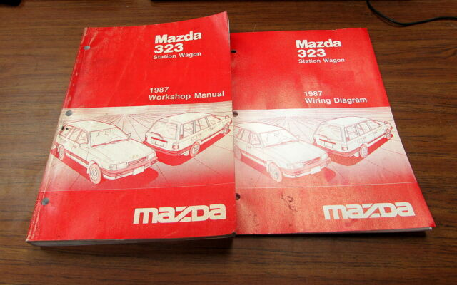1987 Mazda 323 Station Wagon Service Repair Workshop