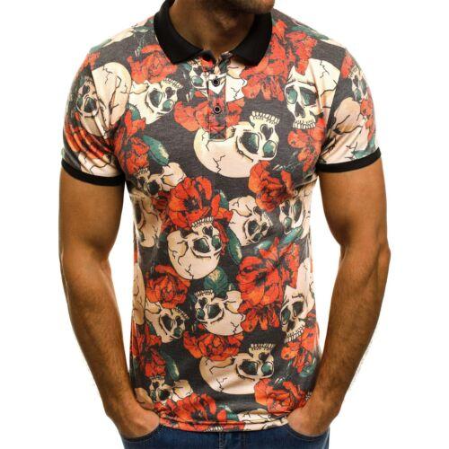 OZONEE mixd 6771 Maglia Polo Da Uomo Polo Camicia Polo T-shirt A Maniche Corte Aderente