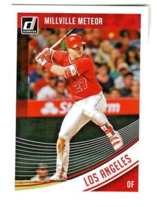 2018-Donruss-MILLVILLE-METEOR-VARIATION-155-MIKE-TROUT-Angels-SP-QTY-AVAILABLE