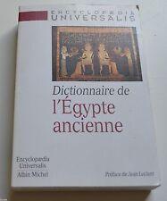 DICTIONNAIRE DE L EGYPTE ANCIENNE ED ALBIN MICHEL 1998 BE