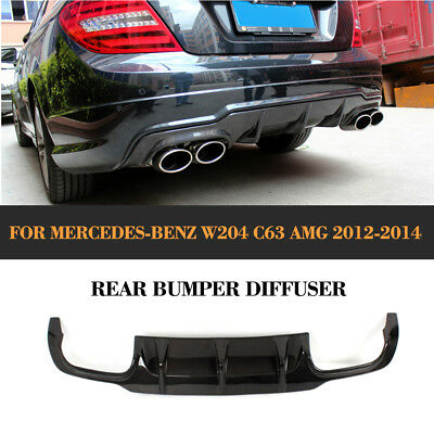 W204 Carbon Fiber Rear Bumper Diffuser Lip for Mercedes Benz W204 C63 AMG 12-14