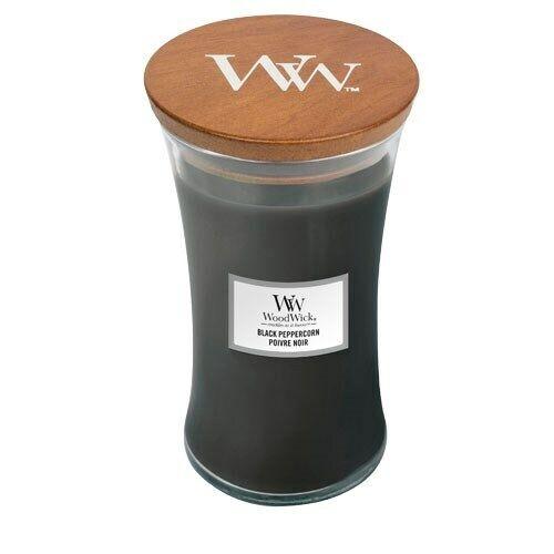 WoodWick Black Peppercorn Large Jar Candle FREE P/&P