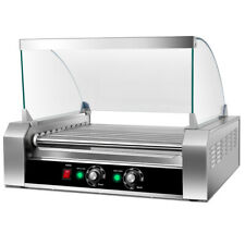 New Commercial 30 Hot Dog 11 Roller Grill Cooker Machine With Cover Ce New