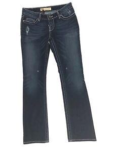 Bke-Sabrina-Boot-Jeans-Women-Size-27x33-Stretch-Dark-Wash-Denim
