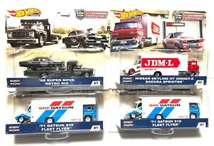 2019-Hot-Wheels-Car-Culture-Team-Transport-Case-C-Set-of-4-1-64-Cars-FLF56-956C