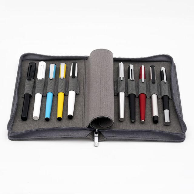 Kaco pen pouch pen case bag, Grey Color, Business Style, 10 Pen Pockets