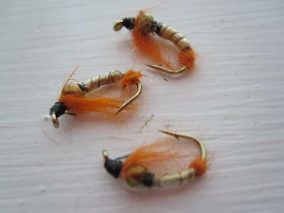 NYMPHS 1 DZ D16-1 BEAD HEAD DEPTH CHARGE CZECH-MATE NYMPH /'S SIZES AVAILABLE