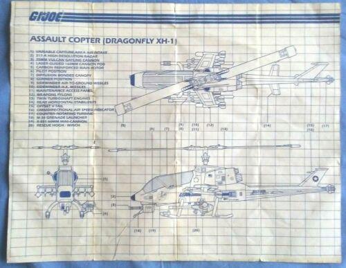 GI joe ORIGINAL Blueprints 1982-1993 3.00-9.00 $ vous choisissez votre modèle!
