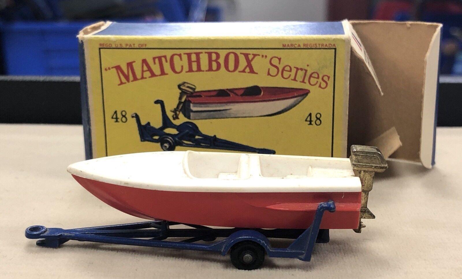 matchbox matchbox matchbox 48 barca & roulotte buona condizione 32da9a