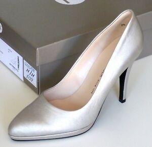 best loved aef63 b45ca Details about Peter Kaiser Womens Hertha Silver High Heel Court Shoe UK  Size 7
