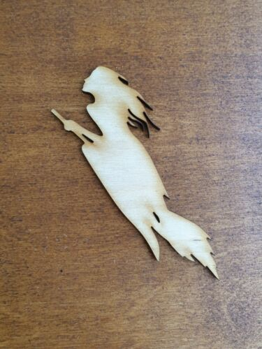 Witch Halloween Wooden Ply acrylic mirror wood Craft Scrapbooking embellishment