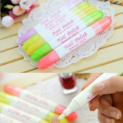 Nail Art Polish Corrector Remover Pen Clean Mistake With 3 Tips Hotsale