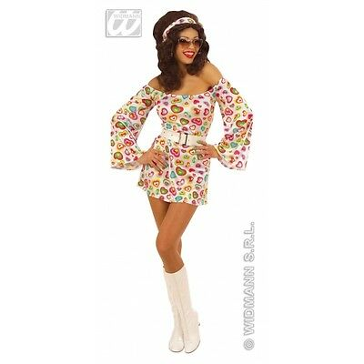 Ladies Womens 70s Cutie Dress Costume Outfit for Disco Fancy Dress