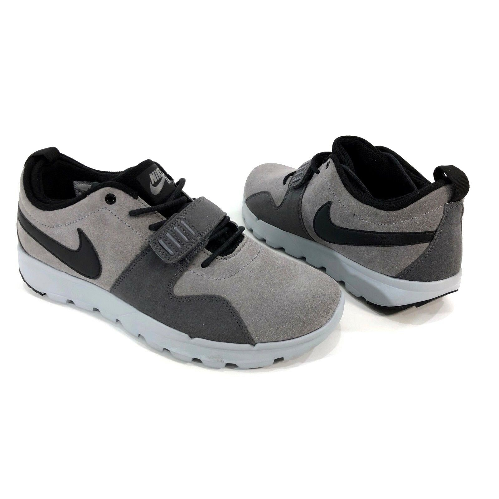 Nike SB Trainerendor L Men's Sz. Shoes 10.5 Grey Black Skateboarding Shoes Sz. 806309-001 fd31ad