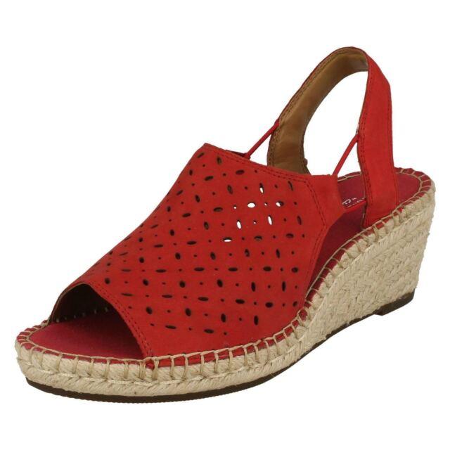 08711f8632f Ladies Clarks Wedge PEEP Toe Sling Back Summer Sandals Petrina Gail ...