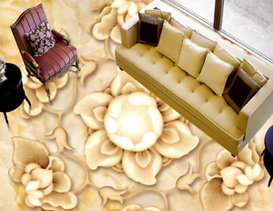 3D Cute Flowers 505 Floor WallPaper Murals Wall Print 5D AJ WALLPAPER UK Lemon