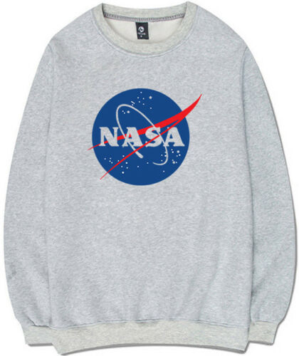 Men/'s Women/'s NASA Space Logo Sweatshirts Hoody Hoodie Pullover Oversize Casual