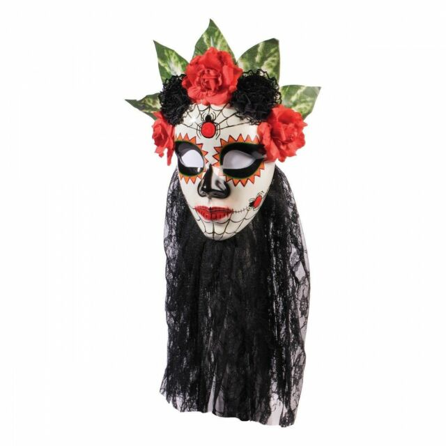 DAY OF THE DEAD CARD MASK BUTTERFLY STYLE halloween fancy dress accessory party