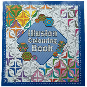 Optical-Illusion-Adult-Colouring-Book-64-Pages-Anti-Stress-Art-Therapy-24-x-22cm