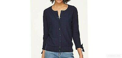 New Ann Taylor LOFT Black or Ivory 3//4 sleeve button front cardigan sweater L XL