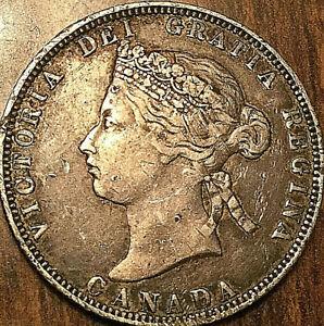1870-CANADA-SILVER-25-CENTS-QUARTER-COIN-Obverse-1