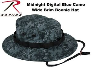 6c8d02e71fd Image is loading Midnite-Blue-Digital-Camouflage-Military-Issue-Style-Boonie -