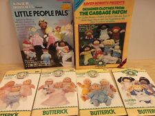 Vintage Lot 1980s Cabbage Patch Kid Butterick Patterns PLAID magazine w/ outfits