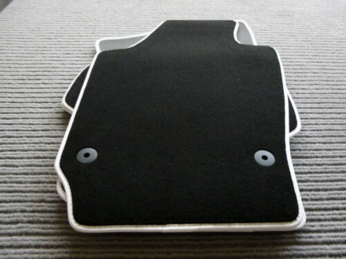 $$$ Lengenfelder Fußmatten passend für Ford Kuga II WEIß $$$ Rand Kunstleder