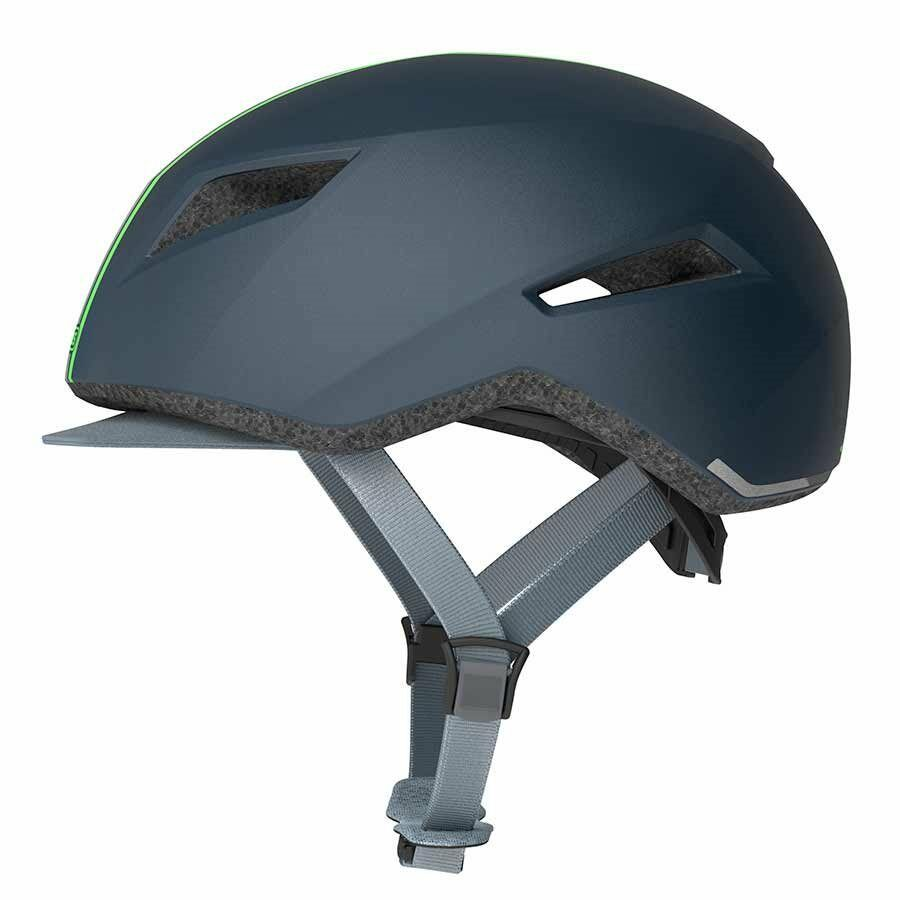 New Abus Yadd-I Cycling Helmet Large 58-62cm  Streak bluee Green Fabric Visor  2018 store