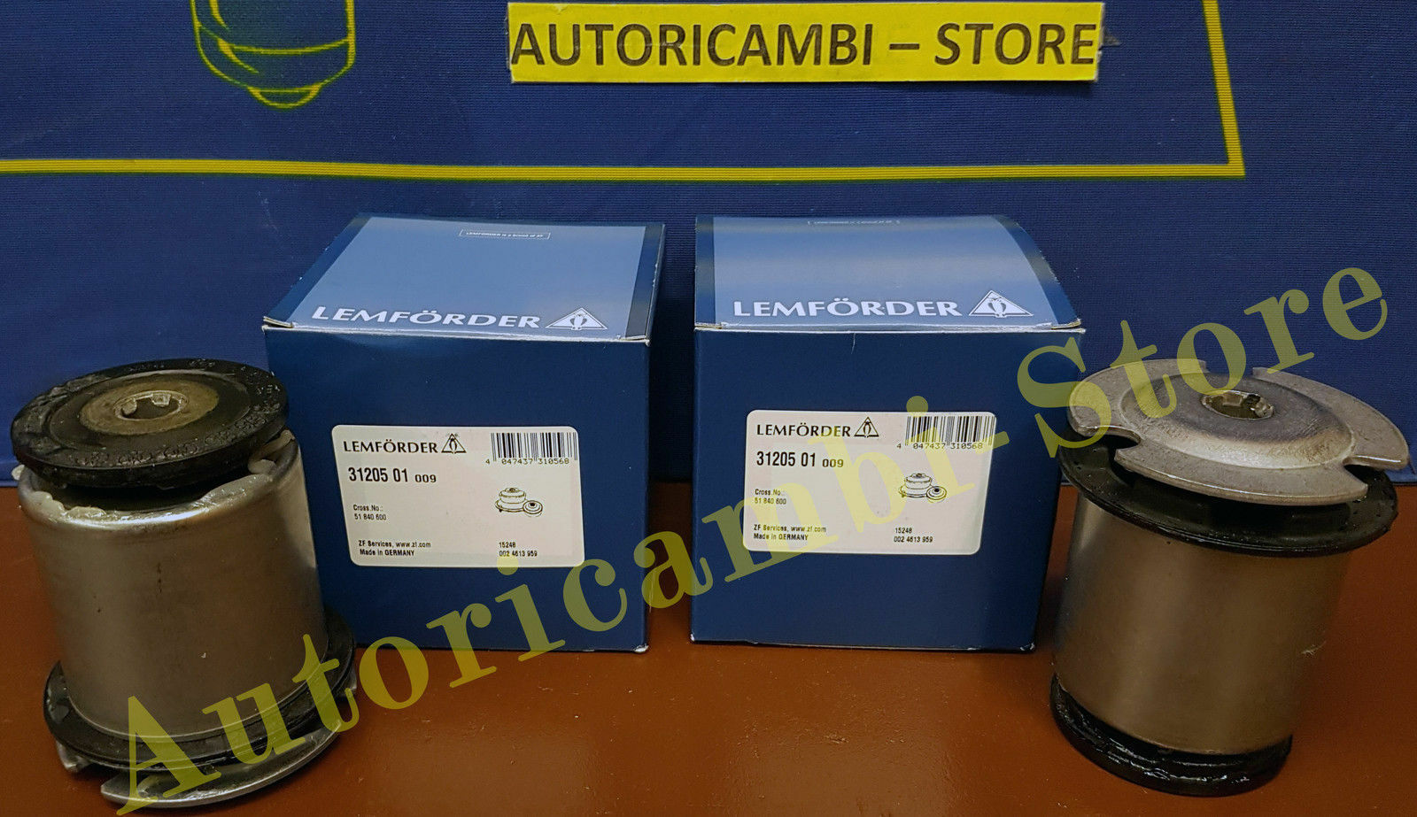 51840600 BOCCOLE PONTE POSTERIORE FIAT BRAVO II RINFORZATE ORIGINALI LEMFORDER