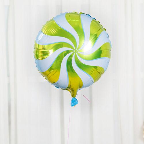 "18/"" Round Lollipop Peppermint Candy Swirl Windmill Foil Balloons Birthday Decor"