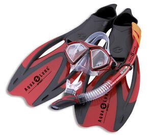 Aqua-Lung-Set-Boccaglio-Set-Immersione-ProFlex-x-mittasche-NUOVISSIMI-MODELLO