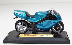 Honda-n-ref-turquoise-echelle-1-18-Modeles-de-moto-de-Motormax