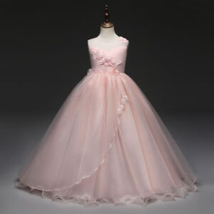 Flower-Girl-Dress-Princess-Formal-Graduation-Bridesmaid-Size-6-8-10-12-14-16