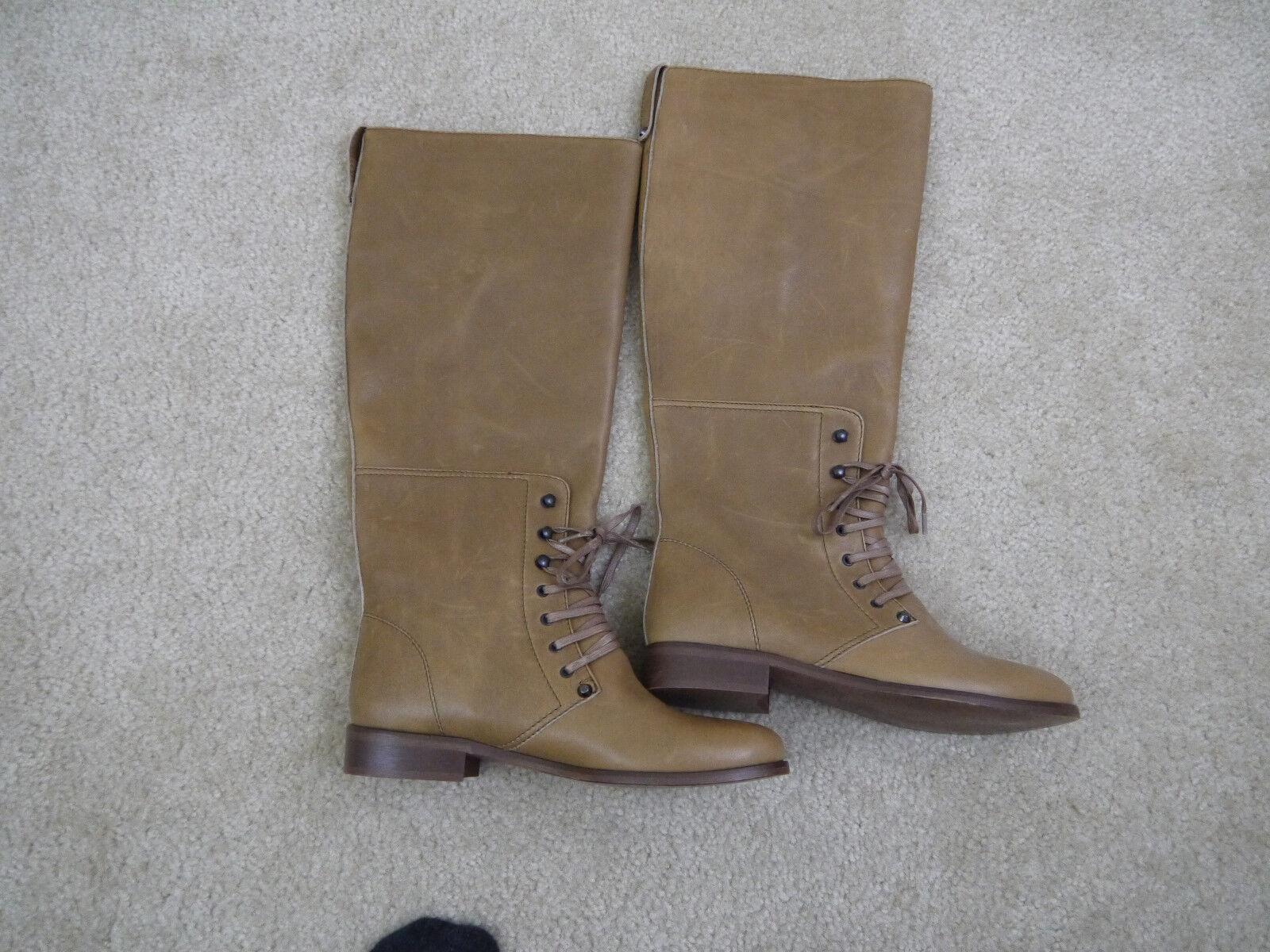 325 J.Crew Owen tall boots Tan size 7 Item 49094 NWOB