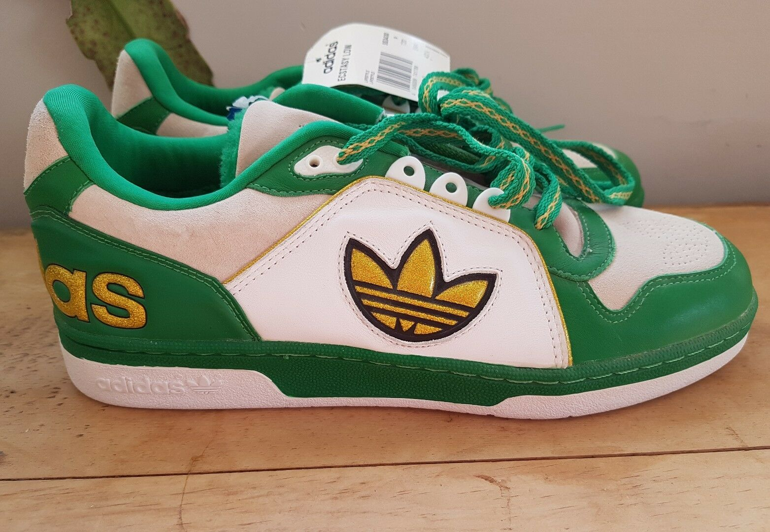 vintage retro adidas gold ecstasy low vert gold adidas trefoil9 d0aa78
