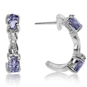 Ohrringe-Ohrstecker-Roxanne-925er-Silber-0-57-Kt-echter-Tansanit-amp-Diamant
