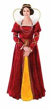 Ladies Red Queen Elizabeth Fancy Dress Costume Medievale Regale Royal AC482