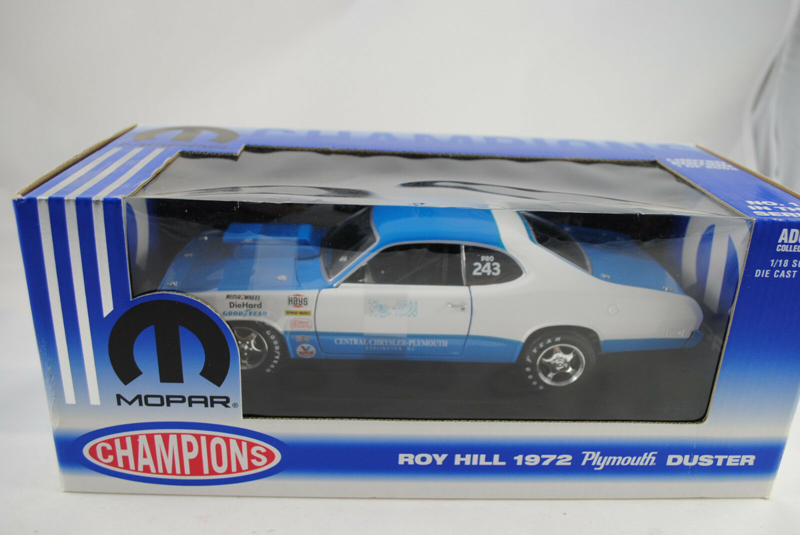 1 18 Ertl Mopar Champions Series Roy Hill Plymouth Duster Duster Duster Rare  Nip 949e5d
