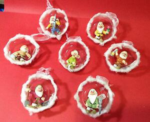 Addobbi Natalizi Disney.Dettagli Su Natale Decorazioni Ornaments Addobbi Albero Disney Sette Nani Natale Christmas