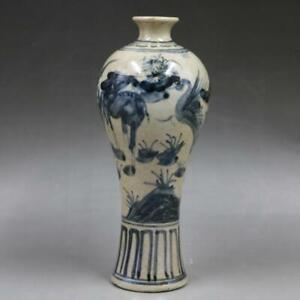 Chinese-old-porcelain-Hand-painted-Blue-and-White-Porcelain-Pulm-vase