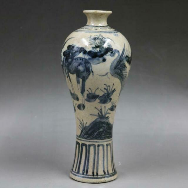 Chinese old porcelain Hand-painted Blue and White Porcelain Pulm vase