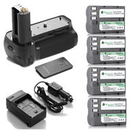 MB-D80 MB-D90 Battery Grip + 4 Pack EN-EL3E Battery + Charger For Nikon D90 D80