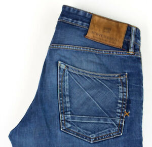 Scotch & Soda Hommes Snatch Jeans Jambe Droite Taille W32 L34 AGZ300