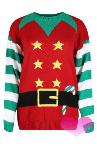 Mens Womens Ladies Xmas Christmas Jumper Novelty Elf Crew Neck Sweater S XXL.